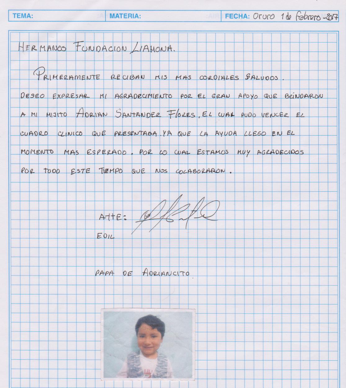 Oruro-3-10-17-Adrian-Romero-thank-you-letter