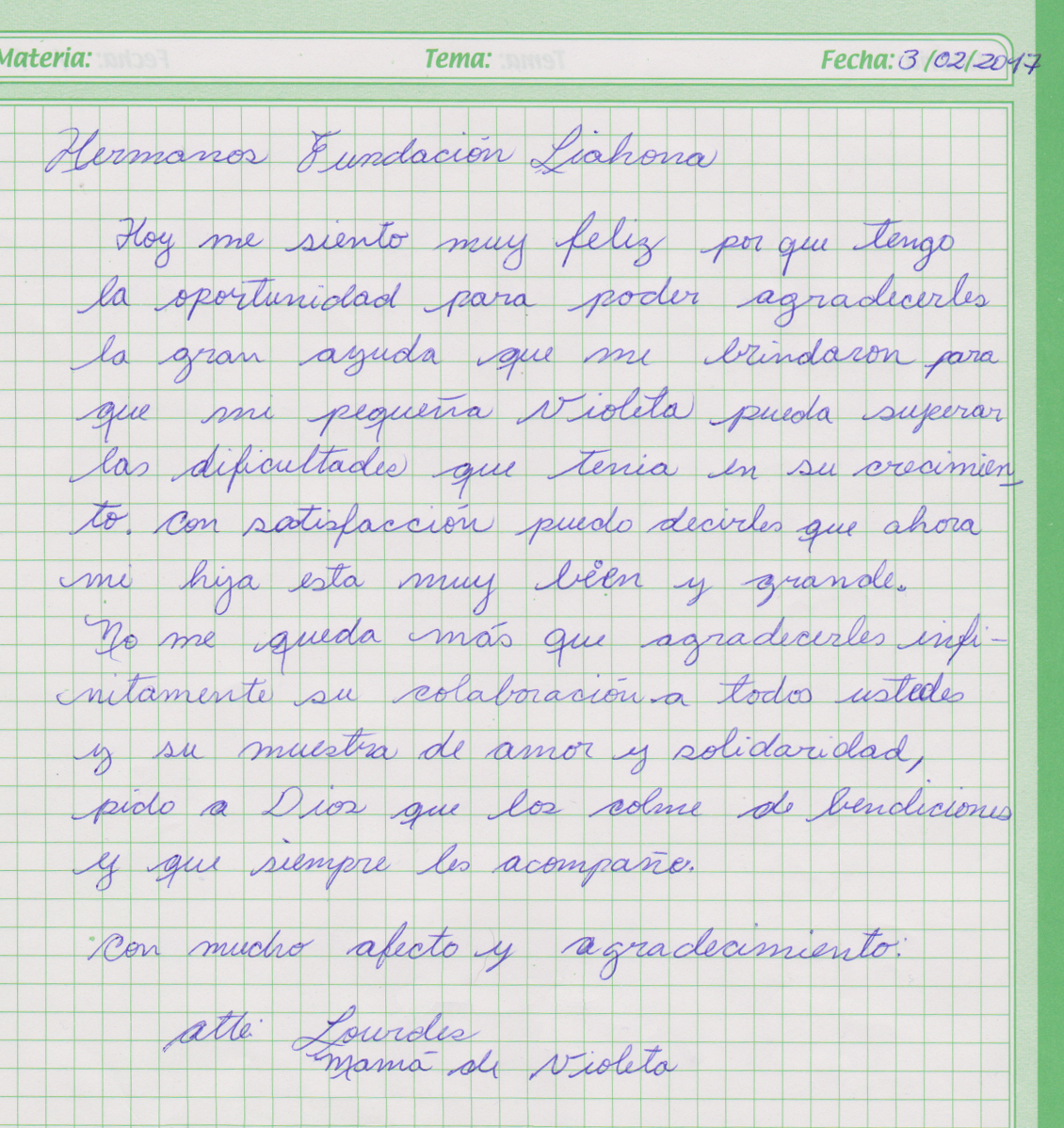 Oruro-3-10-17-Violeta-Aliaza-thank-you-letter
