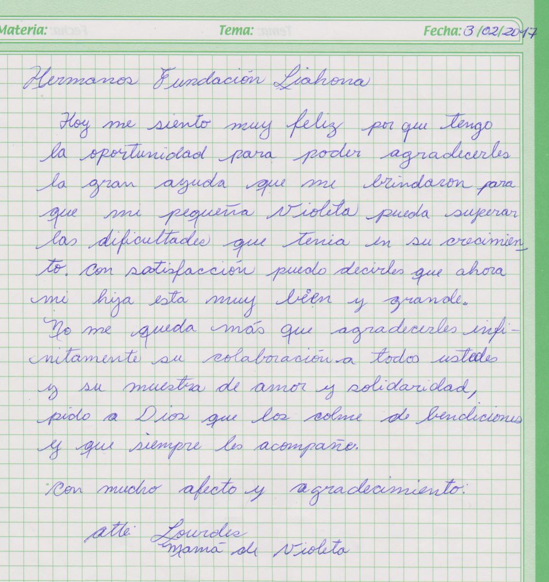 Oruro-3-10-17-Violeta-Aliaza-thank-you-letter