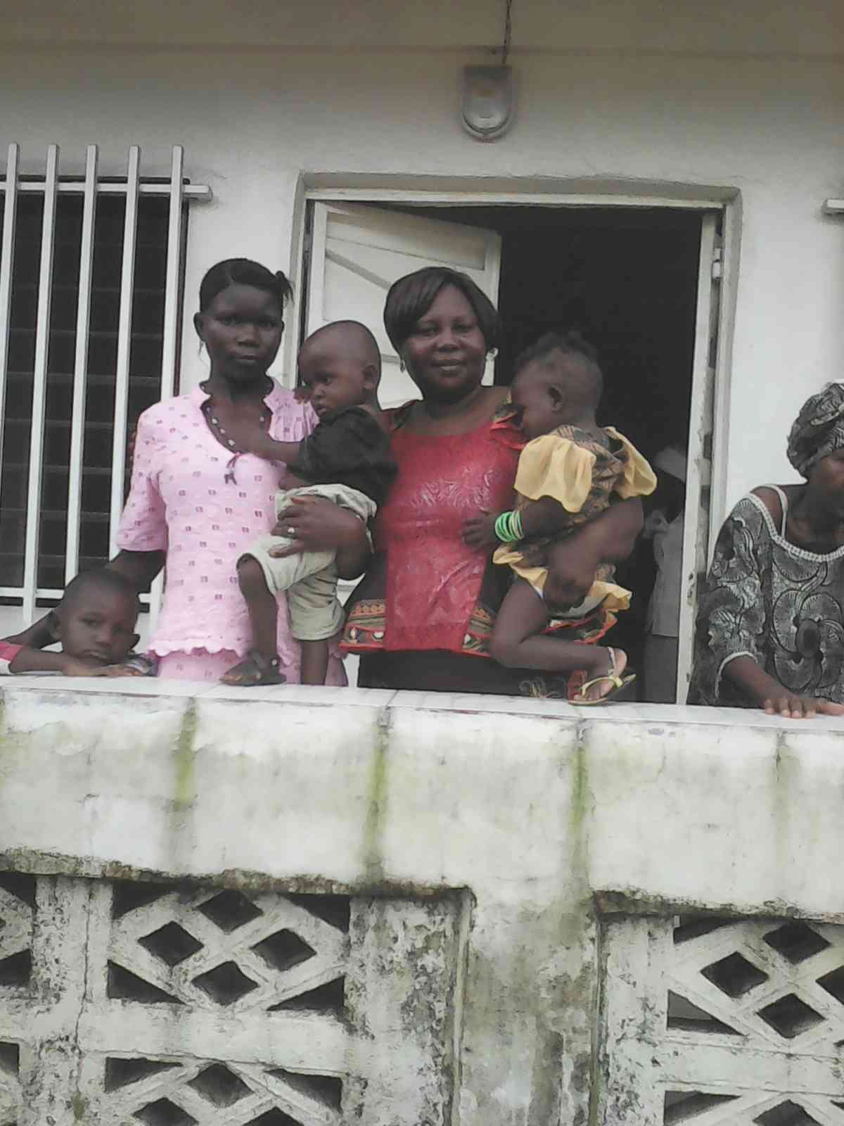 Sierra Leone 9 25 2016 Agnes With Twins And Mother At Church Investigating And Soon To Be Baptized Parents